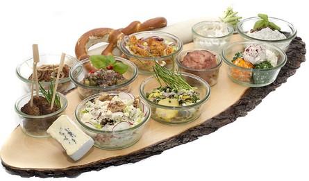 bayerische brotzeit rezepte partyfood fingerfood to go food essen aus dem glas. Black Bedroom Furniture Sets. Home Design Ideas