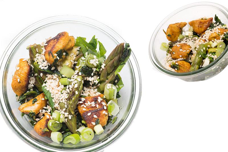 5 elemente rezepte gr ner spargel salat mit huhn partyfood fingerfood to go food essen aus. Black Bedroom Furniture Sets. Home Design Ideas